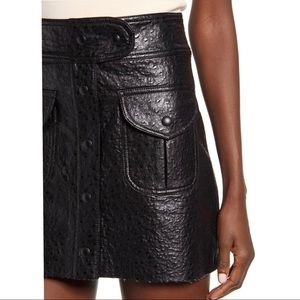 Blank NYC faux leather mini skirt size 26 NWT